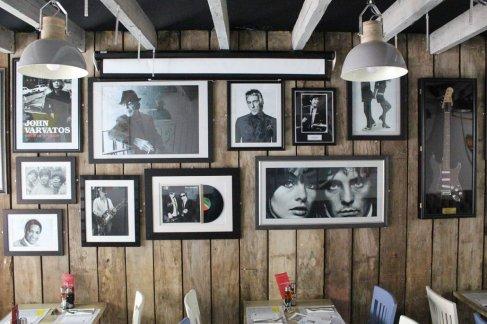 Pizza Parlour Restaurant Peterborough - 1960's music paraphenalia