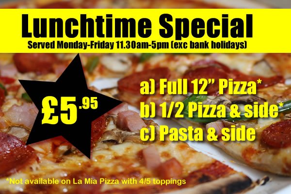 Offers The Pizza Parlour Peterborough